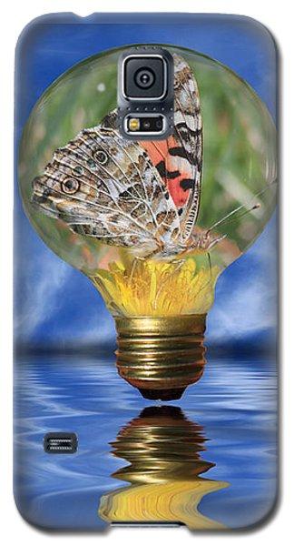 Butterfly In Lightbulb - Landscape Galaxy S5 Case by Shane Bechler