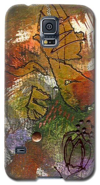 Galaxy S5 Case featuring the mixed media Butterfly Kisses by Angela L Walker
