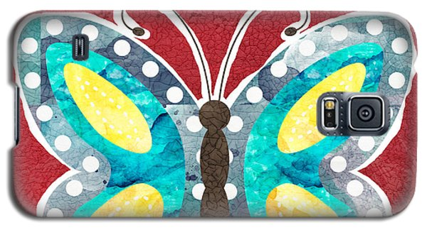 Butterfly Galaxy S5 Case - Butterfly Liberty by Linda Woods