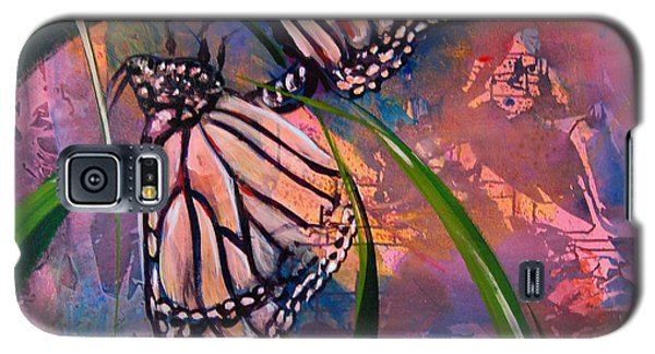 Galaxy S5 Case featuring the painting Butterfly Love by AnnaJo Vahle