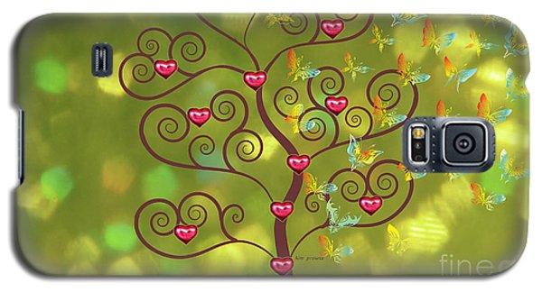 Butterfly Of Heart Tree Galaxy S5 Case by Kim Prowse