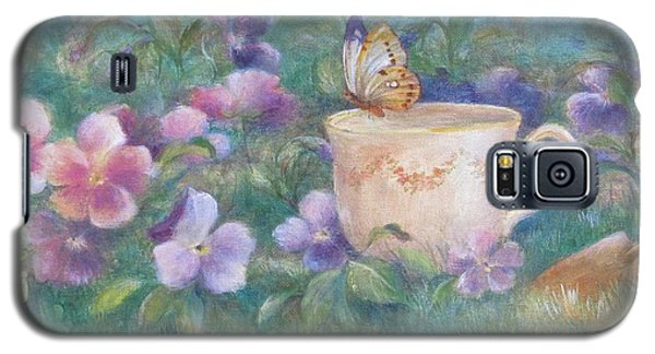 Butterfly On Teacup Galaxy S5 Case by Judith Cheng