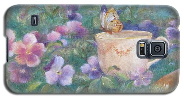 Butterfly On Teacup Galaxy S5 Case