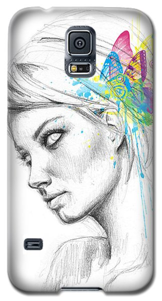 Fairy Galaxy S5 Case - Butterfly Queen by Olga Shvartsur