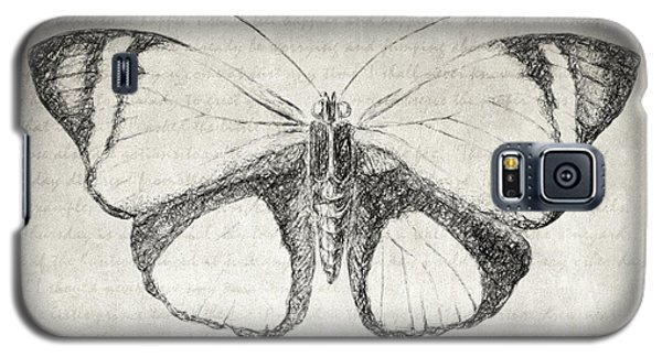 Butterfly Quote - The Little Prince Galaxy S5 Case by Taylan Apukovska
