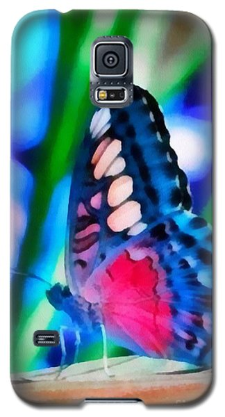 Galaxy S5 Case featuring the painting Butterfly Realistic Painting by Catherine Lott