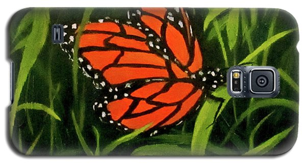 Galaxy S5 Case featuring the painting Butterfly by Roseann Gilmore