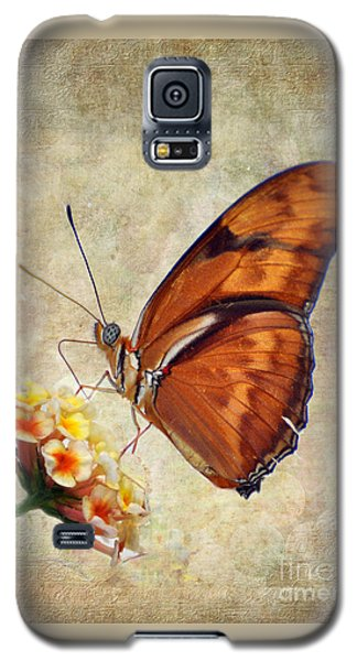 Galaxy S5 Case featuring the pyrography Butterfly by Savannah Gibbs