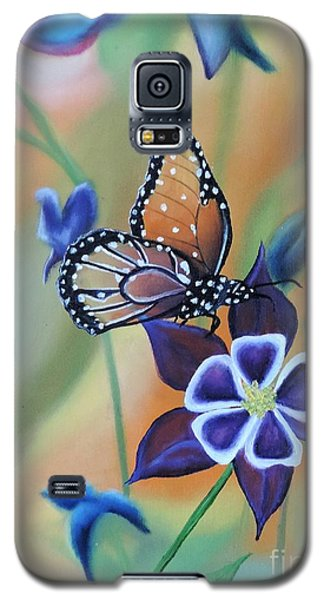 Galaxy S5 Case featuring the painting Butterfly Series#4 by Dianna Lewis