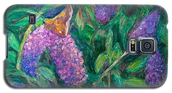 Galaxy S5 Case featuring the painting Butterfly View by Kendall Kessler