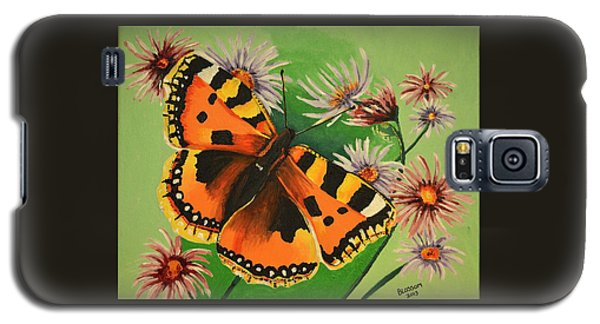 Butterfly With Asters Galaxy S5 Case