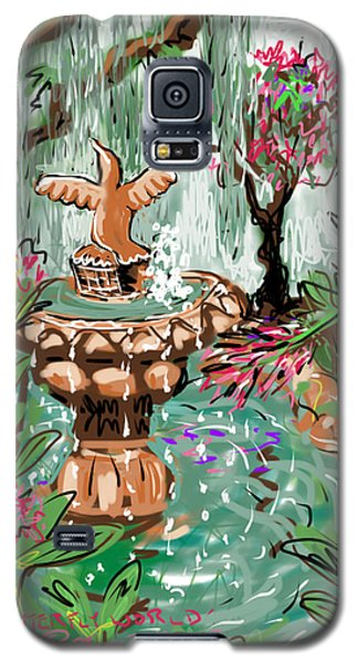 Galaxy S5 Case featuring the digital art Butterfly World by Jean Pacheco Ravinski