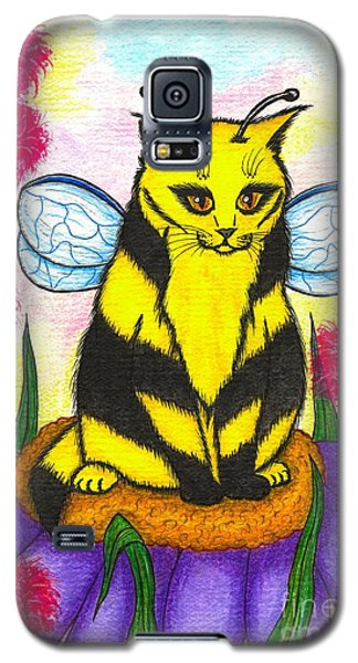 Buzz Bumble Bee Fairy Cat Galaxy S5 Case by Carrie Hawks