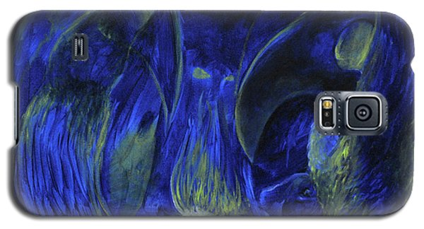 Galaxy S5 Case featuring the painting Buzzards Banquet by Christophe Ennis