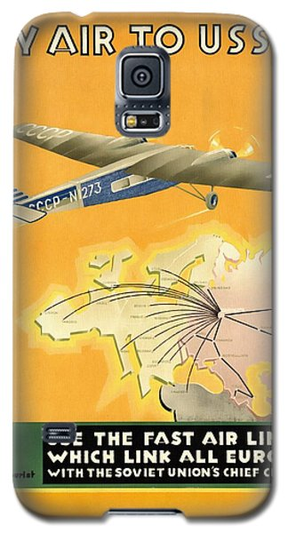 By Air To Ussr With The Soviet Union's Chief Cities - Vintage Poster Restored Galaxy S5 Case