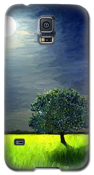 Galaxy S5 Case featuring the painting By The Light Of The Moon by James Shepherd