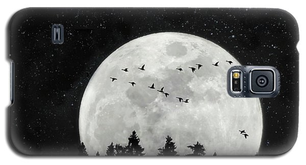By The Light Of The Silvery Moon - Birds  Galaxy S5 Case