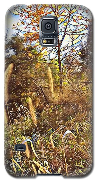 Galaxy S5 Case featuring the photograph By The Railroad Tracks by Diane Miller
