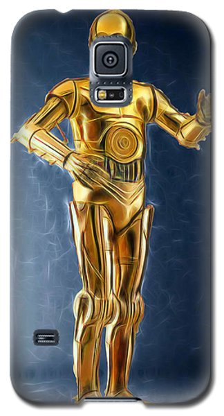 R2-d2 Galaxy S5 Case - C3po Good In Gold by Scott Campbell
