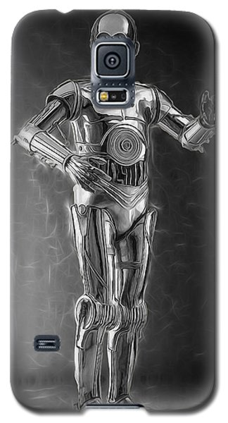 R2-d2 Galaxy S5 Case - C3po One Of The Rat Pack by Scott Campbell