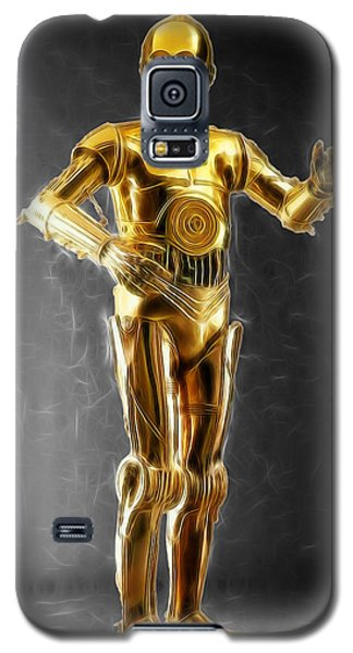 R2-d2 Galaxy S5 Case - C3po Waiting For Something by Scott Campbell