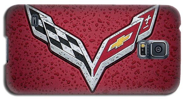 C7 Badge Red Galaxy S5 Case