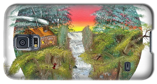 Cabin By The Falls Galaxy S5 Case