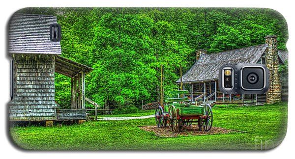 Galaxy S5 Case featuring the photograph Cabin Fever Great Smoky Mountains Art by Reid Callaway