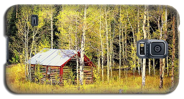 Galaxy S5 Case featuring the photograph Cabin In The Golden Woods by Karen Shackles