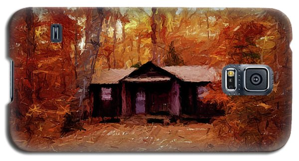 Galaxy S5 Case featuring the painting Cabin In The Woods P D P by David Dehner