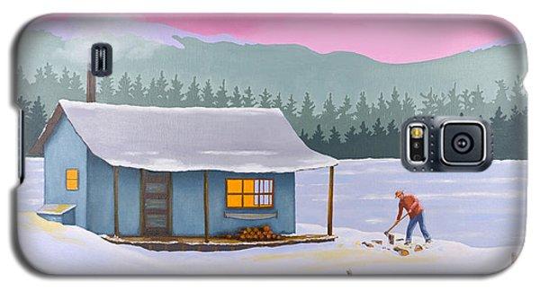 Cabin On A Frozen Lake Galaxy S5 Case