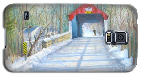 Cabin Run Bridge In Winter Galaxy S5 Case