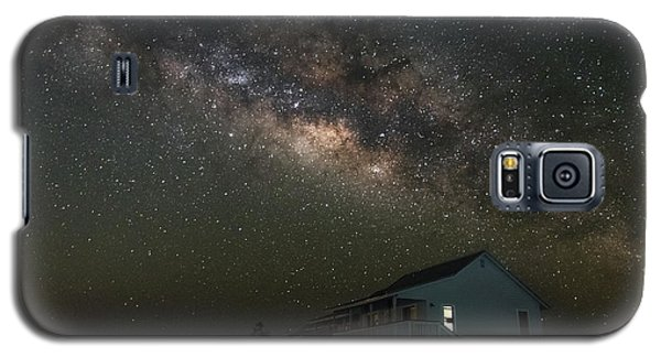 Cabin Under The Milky Way Galaxy S5 Case