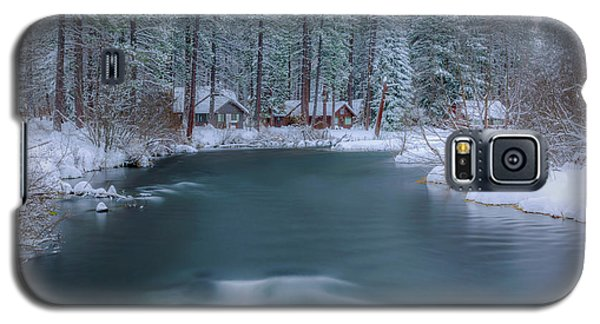 Galaxy S5 Case featuring the photograph Cabins On The Metolius by Cat Connor