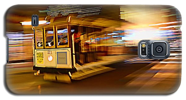 Galaxy S5 Case featuring the photograph Cable Car At Light Speed by Steve Siri