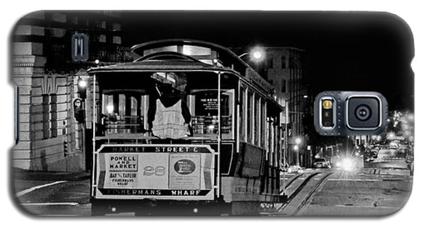 Cable Car At Night - San Francisco Galaxy S5 Case