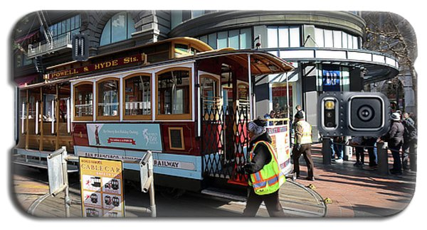 Cable Car At Union Square Galaxy S5 Case by Steven Spak