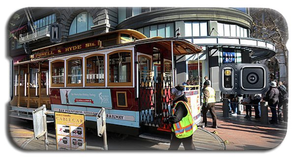 Galaxy S5 Case featuring the photograph Cable Car Union Square Stop by Steven Spak