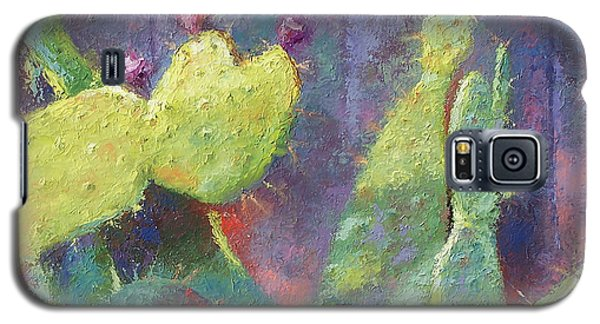 Prickly Pear Cactus Against Fence Galaxy S5 Case
