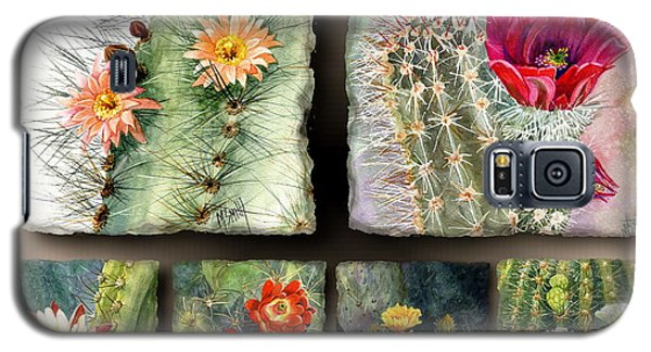 Galaxy S5 Case featuring the painting Cactus Collage 10 by Marilyn Smith