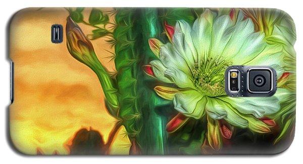 Cactus Flower At Sunrise Galaxy S5 Case