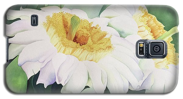 Galaxy S5 Case featuring the painting Cactus Flower by Teresa Beyer