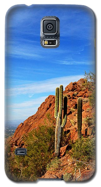 Cactus On Camelback 14x17 Galaxy S5 Case