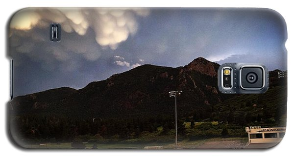 Galaxy S5 Case featuring the photograph Cadet Soccer Stadium by Christin Brodie