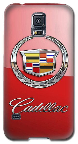 Cadillac - 3 D Badge On Red Galaxy S5 Case