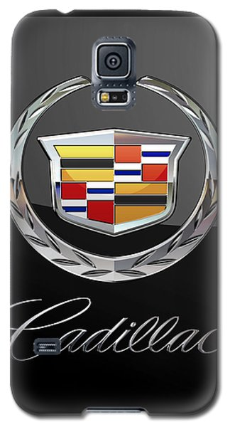 Cadillac - 3 D Badge On Black Galaxy S5 Case