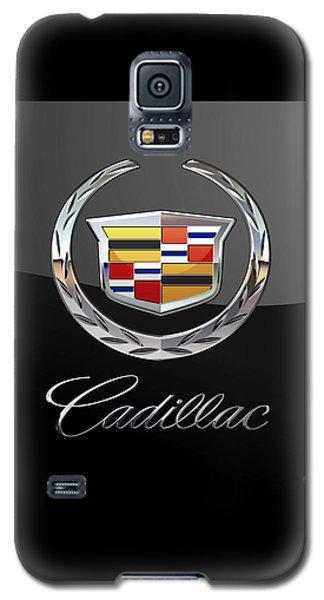 Cadillac - 3 D Badge On Black Galaxy S5 Case by Serge Averbukh