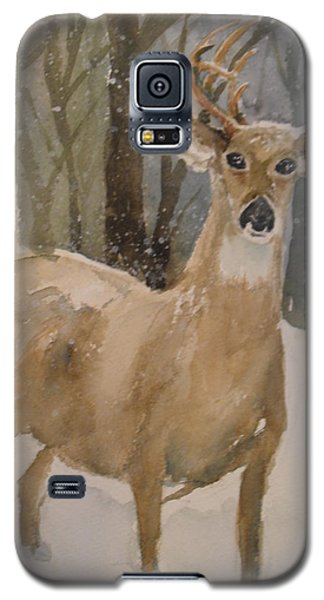 Galaxy S5 Case featuring the painting Caedmon's Buck by Sandra Strohschein