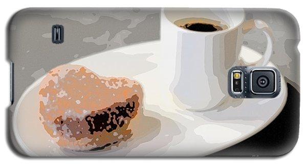 Cafe Americano And Heart Shaped Doughnut Galaxy S5 Case