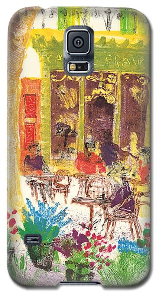Galaxy S5 Case featuring the painting Cafe De France by Martin Stankewitz